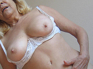 Blond ancient mama gets nasty with toys