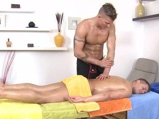 Naughty gay is fingering his boyfriends tight butthole