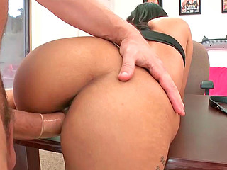 Ranie Mae sucks big balls and gets plowed from behind