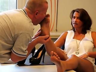 Fabulous homemade German, Foot Fetish porn scene