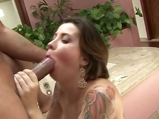 Bruna Vieira in This tattooed slut wants Ed's cock in her butt - Fhuta