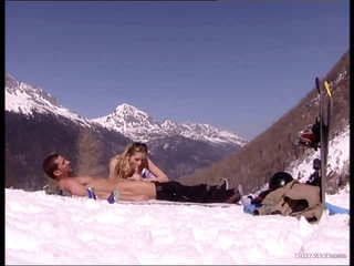 Three-some With Two Hot Hotties Outdoors In The Mountains