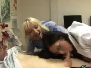 Cfnm femdom nurses give cook jerking