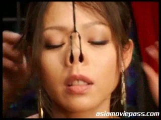 Busty japanese babe maki tomoda is bound up and whipped and abused