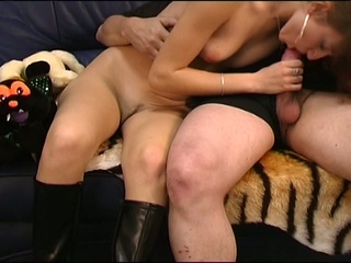 European cum eating girl shows you what she's got
