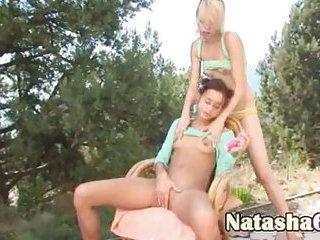 Natasha & Alice sharing vibrators