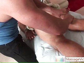 Jake Austin gets amazing massage