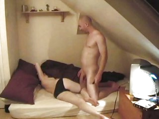 In the bedroom of horny students