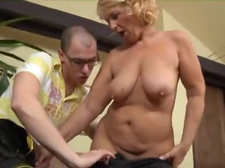 Older and the young large cock have fun