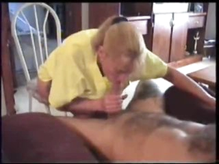 Palatable blonde wife blows her hubby