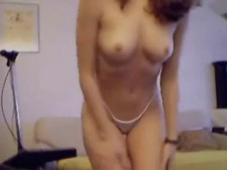 Young chick on web camera has a near perfect body
